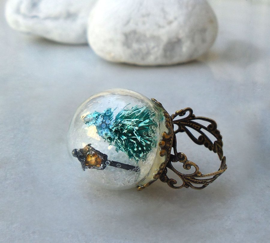 glass ball rings