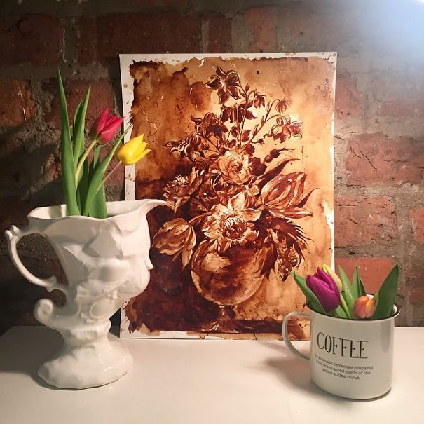 paintings of coffee