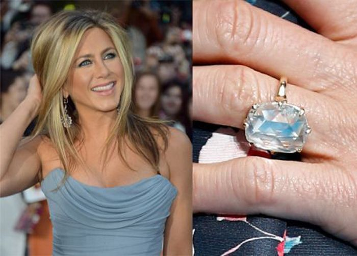 Jennifer aniston engagement ring carat size