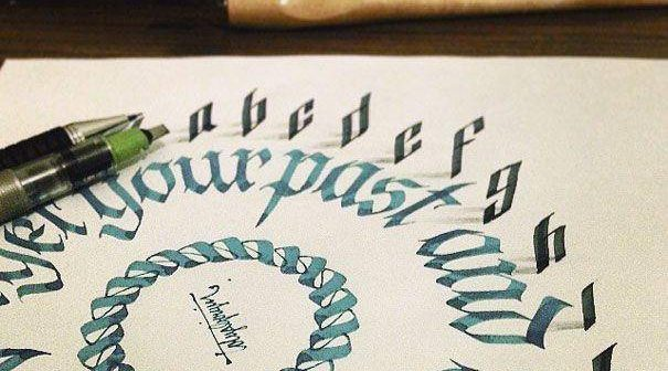 Letters Leap Off The Page In 3D Calligraphy