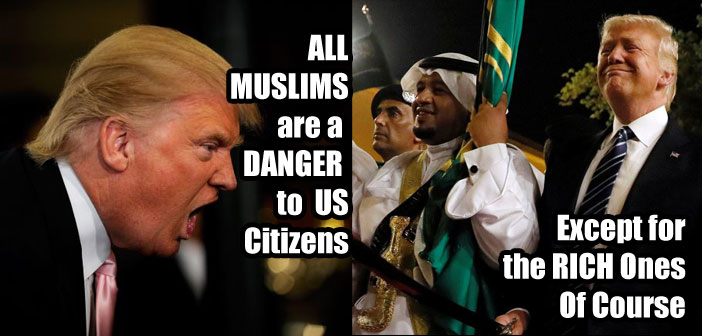 "Hypocrisy of Donald Trump in the ""Muslim"" World"